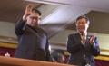 Le dirigeant nord-coréen au concert de la troupe sud-coréenne