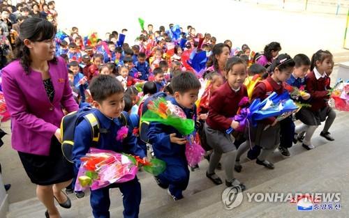 北, 4월1일 각급 학교 신학기 시작…개학식 풍경은