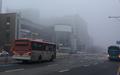 濃霧に包まれた朝
