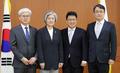 La canciller con los nuevos cónsules generales