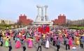Baile conmemorativo del difunto líder norcoreano