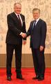 韩斯洛伐克总统会晤