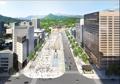 Nueva plaza prevista de Gwanghwamun