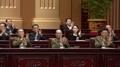 La hermana del líder norcoreano en una sesión parlamentaria