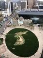 La península coreana en la plaza de Seúl