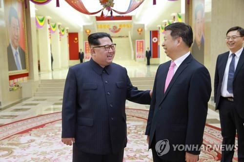 북한 김정은, 쑹타오 접견