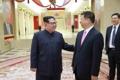 訪朝の中国高官と会談