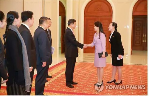 Kim Jong-un meets Chinese delegation