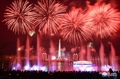 故金主席の生誕記念日祝う花火