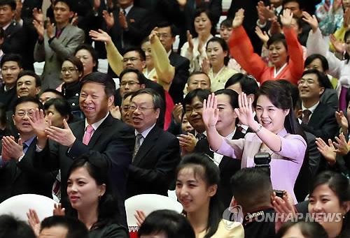 김정은 부인 리설주 대외 활동