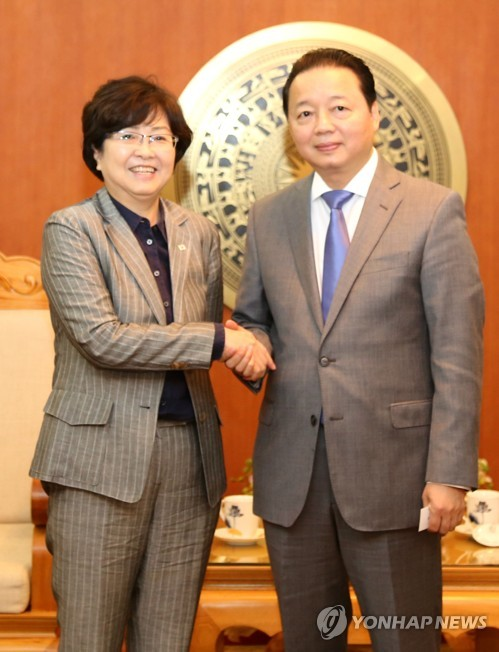 Korean, Vietnamese environment ministers meet