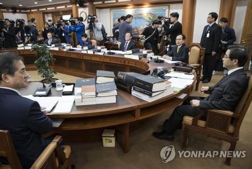 선관위,'김기식 질의' 관련 전체회의