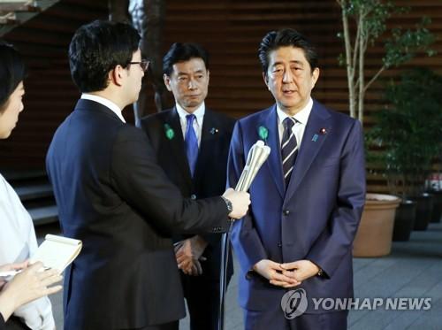 미국 방문 의미 설명하는 아베 총리