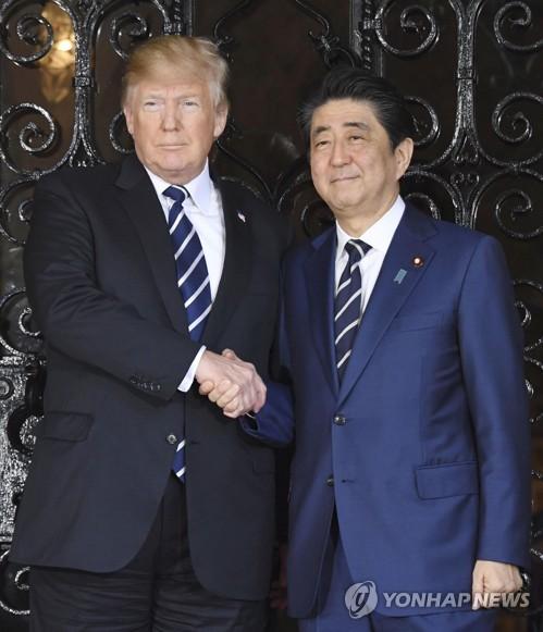 """'미일관계 좋다'는 일본인 급감…""""트럼프 美제일주의 영향"""""""