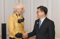 Avec Christine Lagarde