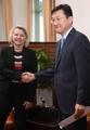 Una diplomática de alto rango de EE. UU. visita Seúl