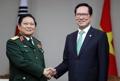 Jefes de Defensa de Corea del Sur y Vietnam