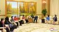 Representantes de un órgano internacional femenino en Corea del Norte