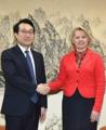 El jefe nuclear de Seúl con una alta diplomática de Washington