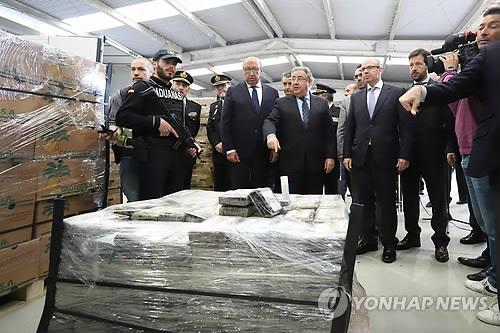 스페인 항구서 코카인 9톤 적발 [EPA=연합뉴스 자료사진]
