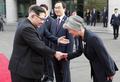 La canciller surcoreana y el líder norcoreano