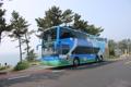 済州島観光は2階建てバスで
