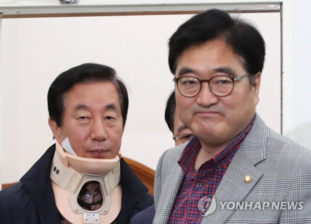 우원식-김성태, 무거운 표정