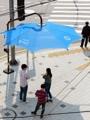 Sombrillas públicas en Dongdaemun