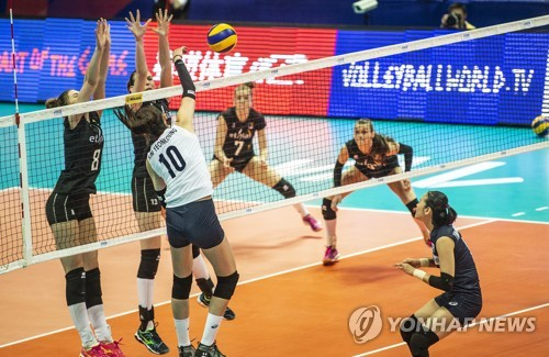 한국 여자배구, 발리볼네이션스리그 벨기에전 완패