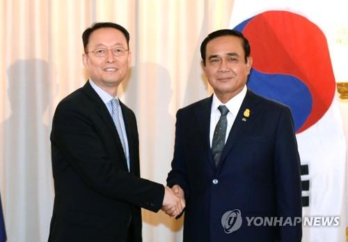 백운규 장관, 태국 총리 면담