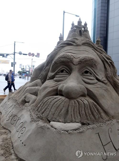 Sand sculpture exhibition to open on S. Korean beach