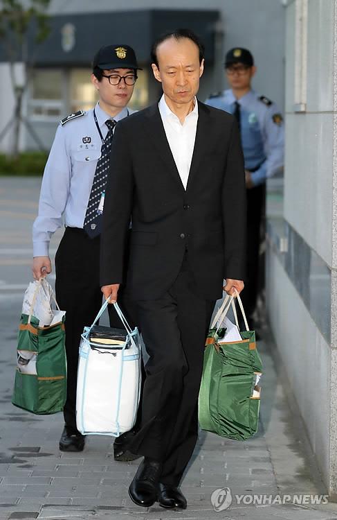 보석 석방된 이재만 전 청와대 총무비서관