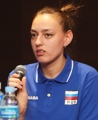 Russian player at int'l volleyball tournament