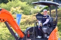 Park receives excavator as tournament prize