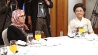 첫 공식행사에 참석한 총리 부인