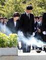 盧武鉉氏の死悼む遺族