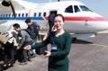 韓国記者団 北朝鮮に到着