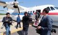 韩记者团飞抵元山