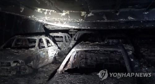 폭격 맞은 전쟁터 방불…인천항 화재 화물선 내부 공개