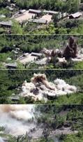 朝鲜核试验场爆破现场