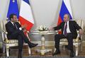 """푸틴-마크롱, 페테르부르크서 회담…""""이란·시리아 등 논의"""""""