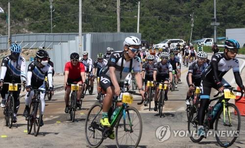 철원군에서 펼쳐진 자전거대회 [연합뉴스 자료사진]