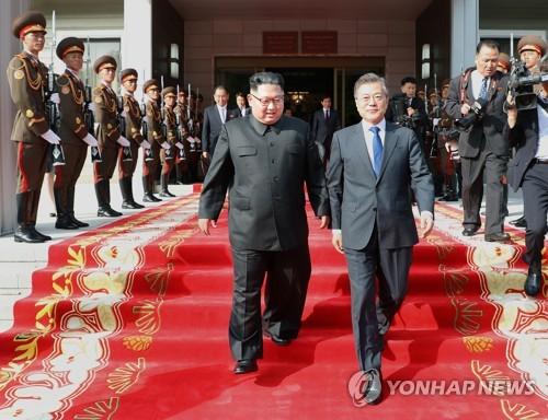 2차 회담 마친 남북 정상