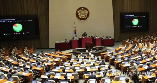 국회 본회의 모습 [연합뉴스 자료사진]