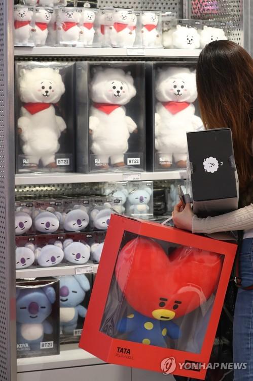 BTS形象产品也热销
