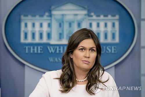 백악관 세라 샌더스 대변인