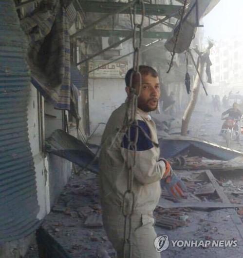 '하얀헬멧' 현장 구조대원 활동 당시 라에드 알살레