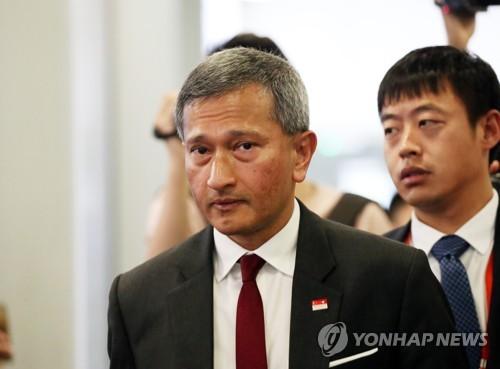 평양으로 가는 싱가포르 외무장관