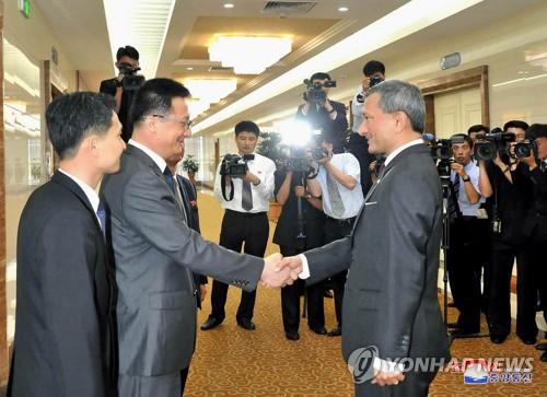 북한 중앙통신, 싱가포르 외무장관 평양 도착 보도
