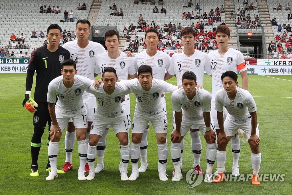 7일 볼리비아 평가전 때 흰색 유니폼을 입었던 대표팀 선수들